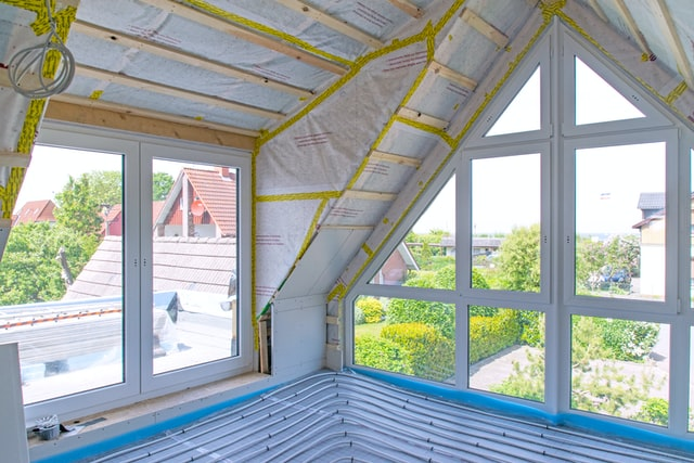 Thermal insulation on the roof